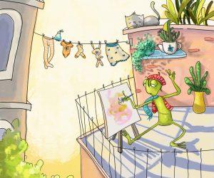 Artist frog
