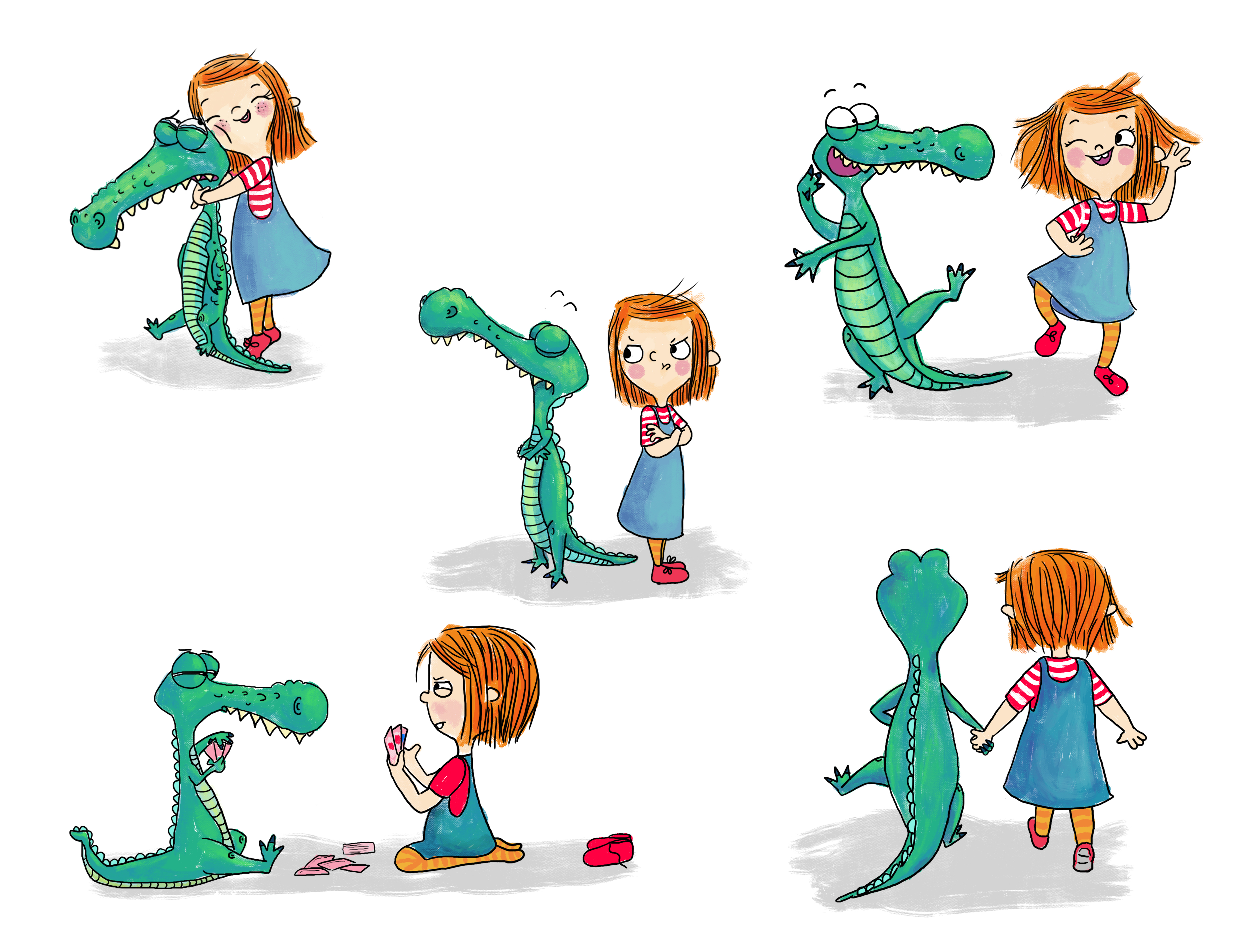 little girl and crocodile character development