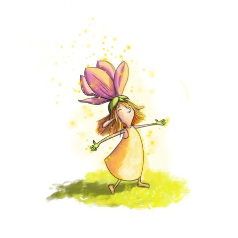 Little garden fairy soaking up the sun